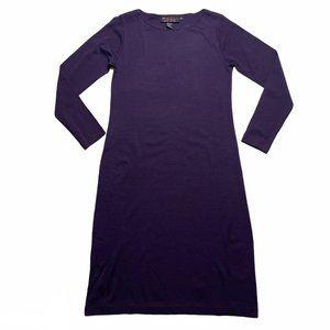 Outlander Purple Sweater Dress Long Sleeve Medium